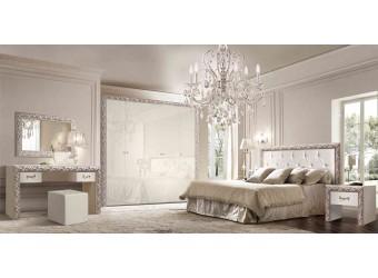Спальня Тиффани Премиум (слоновая кость, серебро)