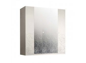 Пятистворчатый шкаф для одежды с зеркалом Роза Р1Ш1/5 (слоновая кость)