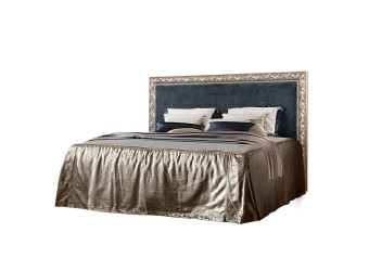 Двуспальная кровать с подъемным механизмом Тиффани Премиум ТФКР-3(П) с мягкой спинкой (серебро)