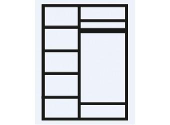 Трехстворчатый шкаф для одежды с зеркалом Тиффани Премиум ТФШ1/3(П) (слоновая кость, серебро)