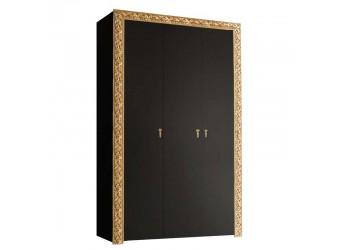 Трехстворчатый шкаф для одежды Тиффани Премиум ТФШ2/3(П) (черный, золото)