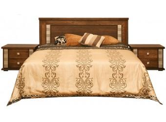 Кровать двойная «Тунис» П344.05 (венге с золочением)