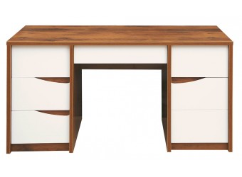 Письменный стол Монако П 510.14 (дуб саттер/белый глянец)